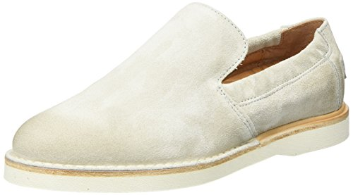 Shabbies WoMen Slipper Velourleder Loafers, Pink White (Off White)