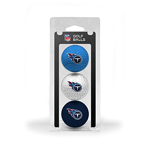 Team Golf NFL Tennessee Titans Regulation Size Golf Balls, 3 Pack, Full Color Durable Team Imprint