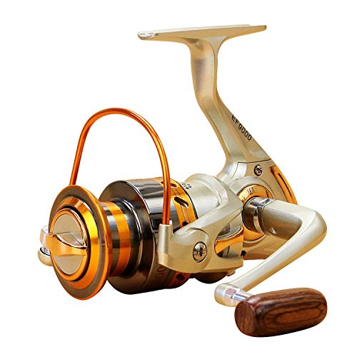 12 BB Fishing Reel Left/Right Collapsible Handle Fishing Spinning Reel Ultra Light Smooth Rock Fishing Reel,8000 Series