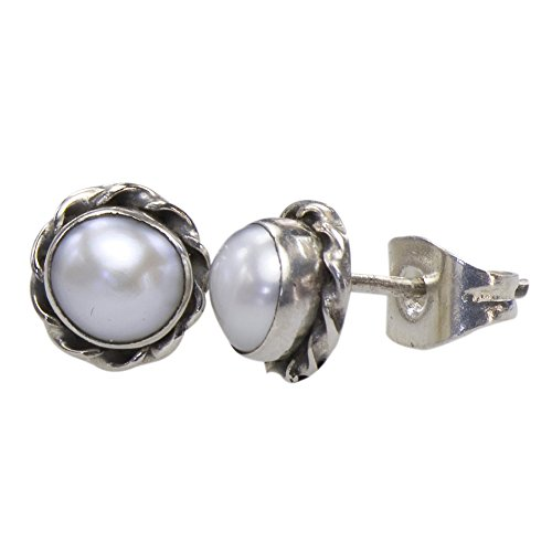 Vintage 925 Silver Earrings Natural Cultured Pearl Jennifer Lawrence Collection (Baguette Cultured Pearl Earrings)
