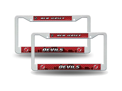 - Rico New Jersey Devils NHL White Plastic (2) Auto License Plate Frame Set