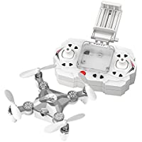 FQ777 FQ11W 2.4G 4CH 6-Axis Gyro WIFI FPV Mini Pocket Drone Rotatable RC Quadcopter With 0.3MP Camera (Silver)