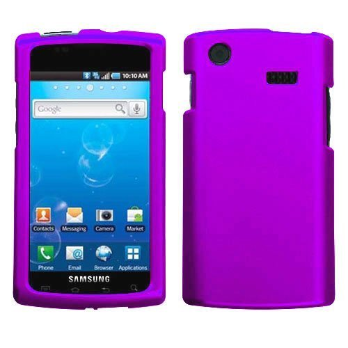 - Purple Rubberized Hard Case for Samsung Captivate i897 (Galaxy S) AT&T