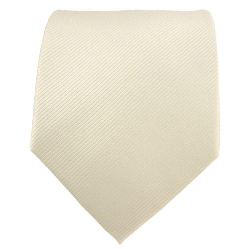 TigerTie Designer cravate ivoire champagne hellbeige unicolor Rips - Tie