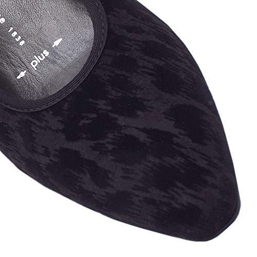Tulia Peter Nero Scarpe punta Tacco Swenja Kaiser Semi In Corte Medio Classic Black PwS6PrWq