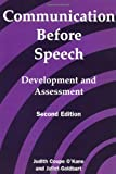 Communication Before Speech, Judith Coupe O'Kane, Judith Coupe O'Kane, Juliet Goldbart, 1853464864