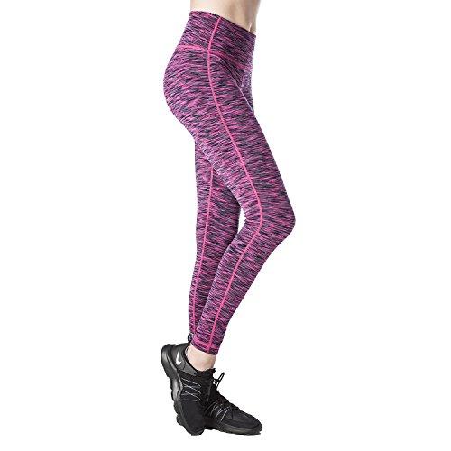 Plus Size Sportswear (Lapasa Women's Sports Leggings SOFT WIDE WAISTBAND Running Yoga Pants Hidden Pocket L01 (X-Large, Magenta Space Dye))