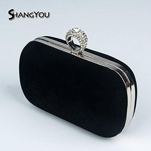 Yuan forage échoué gules à chaîne FYios sac Flannelette à main banquet main Yuan banquet diamant Sac le main à de anneau sac sac à sac dîner travers EEqFBTw4x