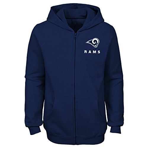NFL by Outerstuff NFL Los Angeles Rams Youth Girls Status Full Zip Hoodie Navy, Youth X-Large(16) by NFL by Outerstuff