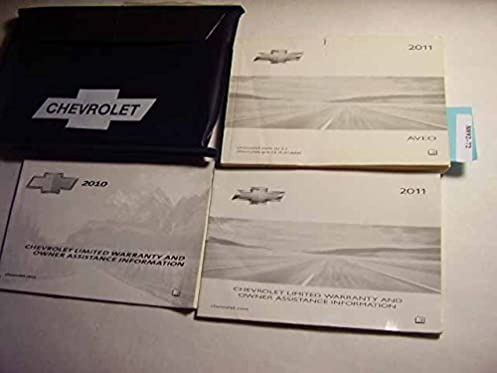 2011 chevy chevrolet aveo owners manual guide book chevrolet rh amazon com 2010 chevy aveo service manual 2010 Aveo Owner's Manual
