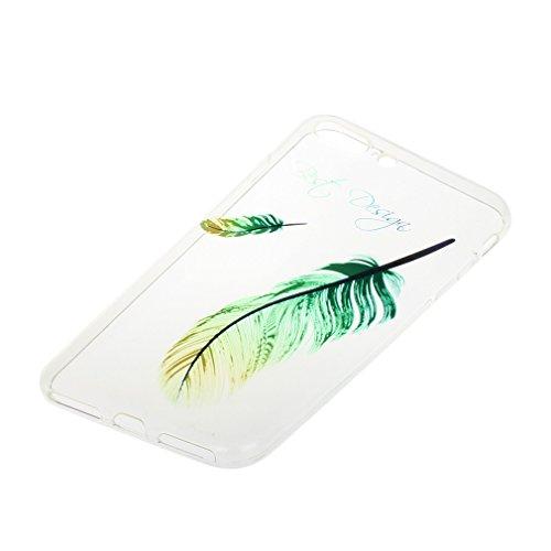 A9H iPhone 7 Hülle (4,7 Zoll) Mania Series Transparent Weiche Silikon Hülle Muster TPU Bumper Case Schutzhülle für iPhone 7,24HUA