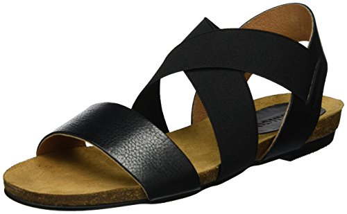 Black 49265 Elastic Sandales Femme Cross Noir 21 Bianco qPxwft00