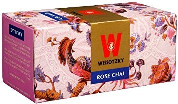 Wissotzky Tea Rose Chai 20 Tea Bags 1.41 Oz. Pack Of 12.