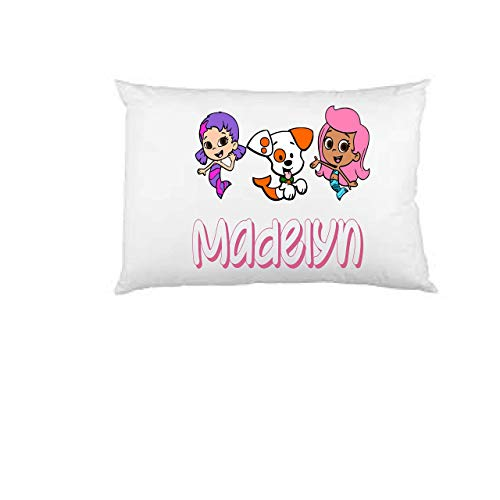 Bubble guppies pillow case, personalized pillow case, birthday gift, Children's Pillow Case, Kid's Bedroom, Toddler Room, Baby Room, girl's bedroom -