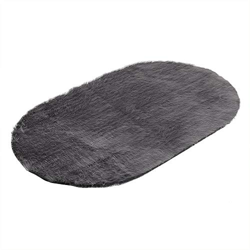 Unpara Winter Warm Fur Chair Pad Cover Soft Artificial Sheepskin Rug Wool Hairy Carpet Seat Pad (Medium, Gray) by Unpara_Contral