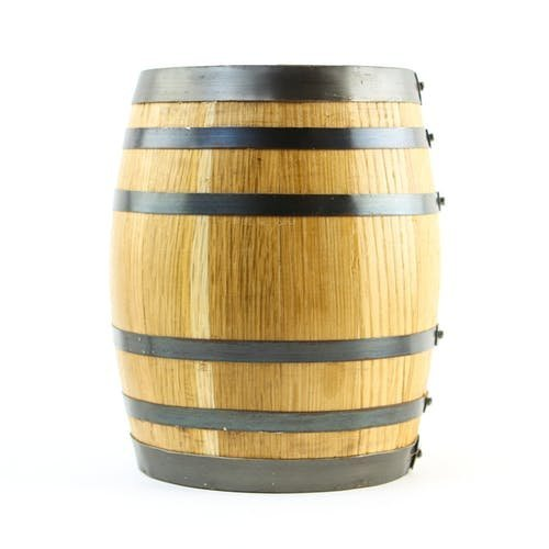 American White Oak 1 Liter Barrel with Stand, Bung, and Spigot (Blank)