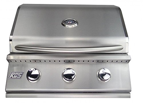 "RCS RJC26A Premier 26"" Natural Gas Grill with Stainless Steel Gas Burners and Electronic Sure-Strike Ignition Up to 36000 RCS"