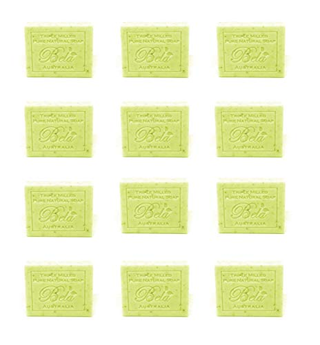 Lemongrass Moisturizing Bar Soap - Bela Pure Natural Soaps Triple French Milled Moisturizing Natural Soap Bars - Lemon Myrtle with Lemongrass - Made in Australia - Ideal Holiday Gifts for Him/Her - 12 pack (3.5 oz each)