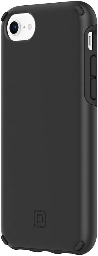 Incipio Duo Case Compatible with iPhone SE (2020), iPhone 8, iPhone 7 & iPhone 6s/6 - Black/Black
