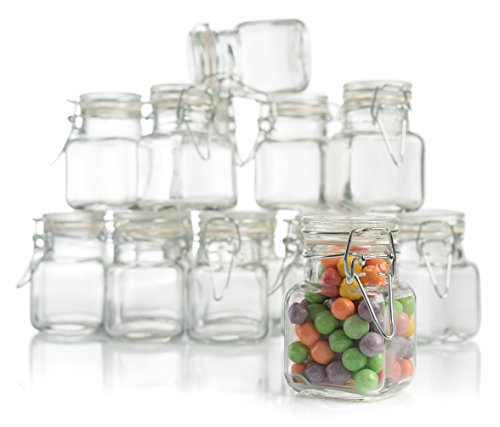 Stock Your Home 3 oz Glass Jar With Snap Lid 48 (Stock Glass)