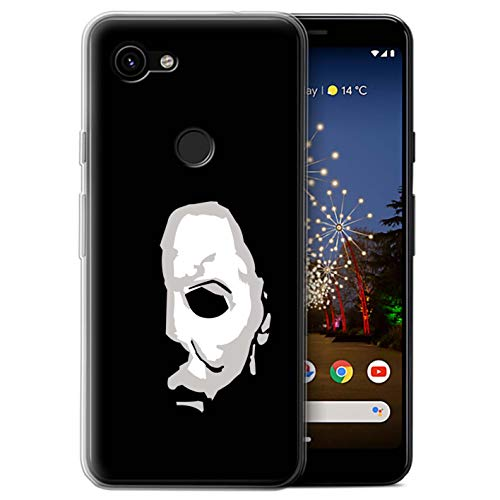 eSwish Gel TPU Phone Case/Cover for Google Pixel 3a XL/Michael Myers Inspired Art Design/Horror Movie Art -