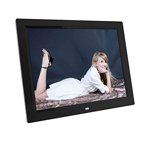 Digital Picture Frame HD LED Electronic Music Video Album Picture Frame, Touch Screen Display Black(U.S. regulations) ()