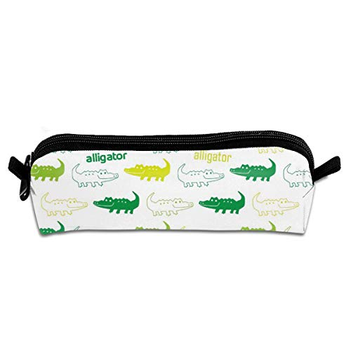 Alligator Coin Unisex Handy Handmade Canvas Pencil Cases & Bags Pencil Box Pencil Bag Pen Case Pencil Case Holder Zipper Canvas Pen Pouch Bag for Boys Girls Kids Teens Teenagers Student Women