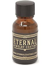 Eternal Jewelry Coating, Clear Protective Polish-on Sealant to Protect and Shield Metal and Stone Jewelry from Tarnish, Wear and Prevent Allergies .5oz (Single)
