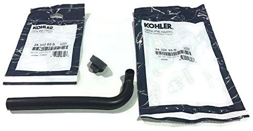 Kohler-Genuine 25 313 03 S Grommet and Breather Hose Tube 24 326 93S 2432693S 2 Items