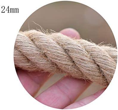 ZHWNGXO 24mm Sisal Seil, ideal for Dekoration Floristik DIY Kunst Handwerk & Verpackung Raue Twine 10m / 20m / 30m / 40m / 50m Selbst Dicke (Size : 40m)