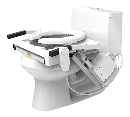 Lift Motor - EZ-ACCESS, Tilt Toilet Lift, Single Motor, Standard Seat, Arms and Seat Move Naturally While Sitting Down and Standing Up From Commode, Increase Independence, Security, Safety in the Bathroom
