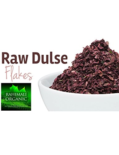 Sea Veggies Red Seaweed (Rahimaliorganic Organic Raw Wild Atlantic seaweeds, Dulse Flakes, hand harvested From the Pristine Waters of the Coast of Maine (Dulse Flakes),4 OUNCE)