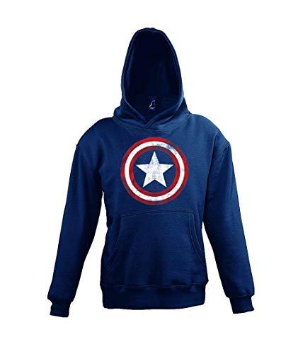 TRVPPY Kinderhoodie hoodie model Vintage Captain America maat 4-12 jaar in vele kleuren