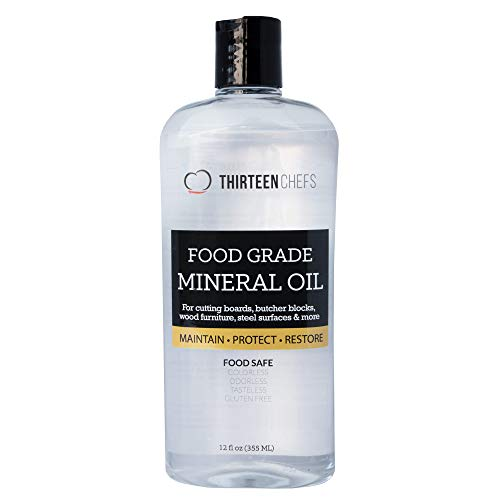 Food Grade Mineral Oil for Cutting Boards, Countertops and Butcher Blocks - Food Safe and Made in the USA (Table Restore Teak)