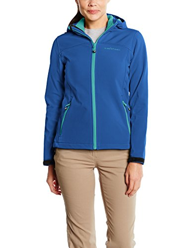 Black Hendedura para mujer chaqueta softshell Azul / Verde