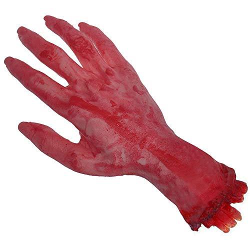 (Bihood Severed Hand Dog Toy Severed Hand Prop Severed Limbs Prop Bloody Limbs Severed Arm Children Severed Arm Prop Bloody Arm Prop Severed Hand Prop Severed Limbs Practical)