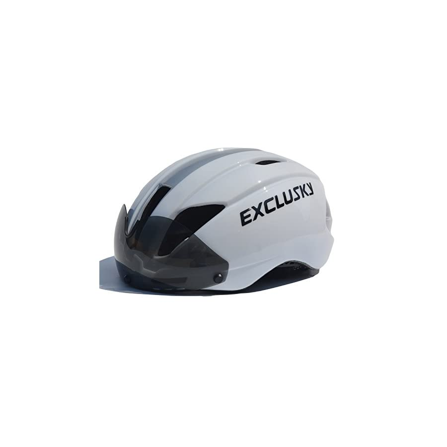 Exclusky AGT Road Bike Helmet CPSC Certified Specialized Cycling with Detachable Shield Visor
