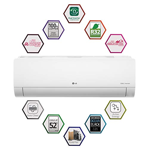 LG 1.5 Ton 5 Star Dual Inverter Split AC (Copper, KS-Q18HNZD , White, Hi Grooved Copper) 5