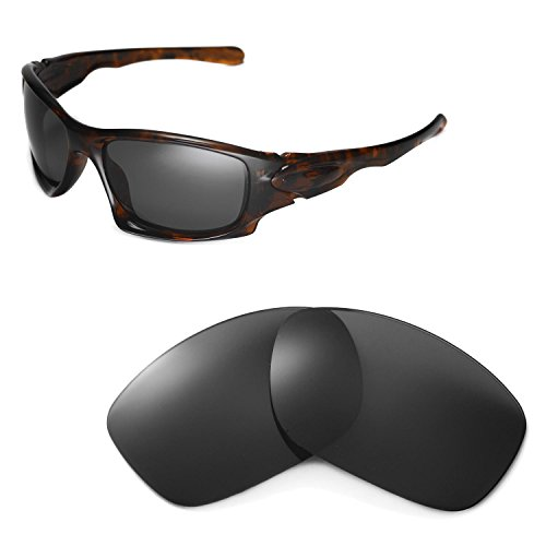 Walleva Replacement Lenses for Oakley Ten Sunglasses - Multiple Options Available (Black - - Ten Oakley Lenses