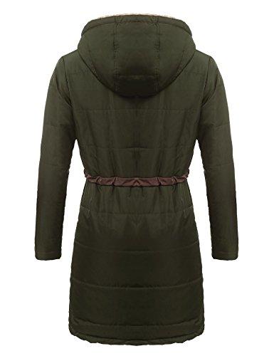 Ejercito Soteer Abrigo para Verde Mujer q06OH0t