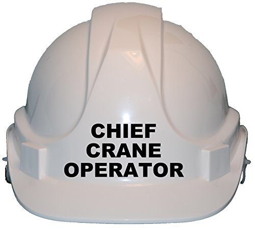 Chief Crane Operator Children, Kids Genuine Hard Hat Safety Helmet With Chin Strap One Size Adjustable Suitable for 2-12 Years White Complies With EN397 Safety Standard by Acce Products by ACCE