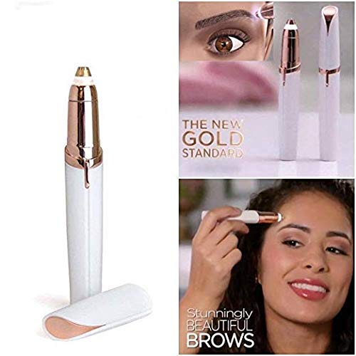 Flawless Brows -Women's Painless Hair Remover Flawlessly touch finishing (white) Battery not included