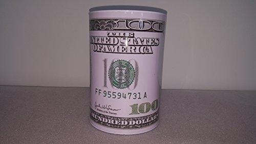 100 Dollar Bill Tin Money Bank Jumbo  Bank Note Tin Metal Money Box 100  Bill Dollar Moneybox  8 5 Tall X 6 0 Metal Money Coin Bank   100 Bill Dollar Bank  Benjamin Franklin Coin Bank  Cash Bank