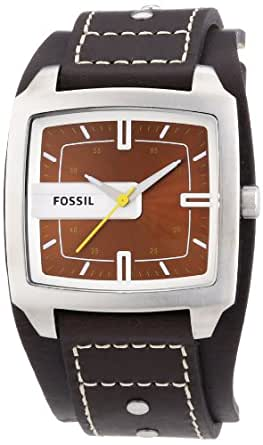 amazoncom fossil mens jr9990 brown leather watch