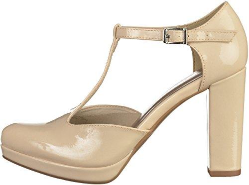 Tamaris 1-22426-28 zapatos de tacón alto para mujer crema