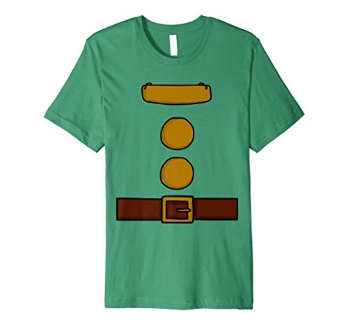 Mens Dwarf Halloween Group Costume Idea T-Shirt with name plaque XL Kelly Green -