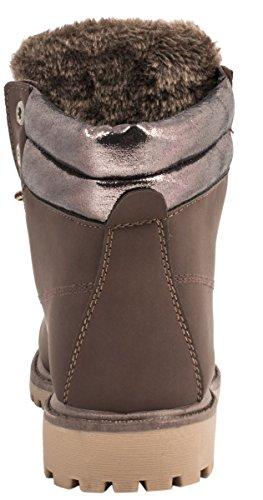 Elara - botas de nieve Mujer Brown/Brown