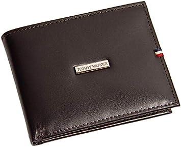 Tommy Hilfiger Men/'s Bifold Leather Passcase Designer Wallet Black Brown Tan