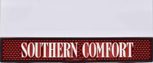 Southern Comfort Bar Rail Runner Splash Mat - Red White Black - 20.5 x 3.5 inches - Collectible