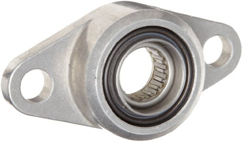 Spyraflo HF3-16M-N Self-Aligning, Needle-Roller Bearing With Aluminum 2-Bolt Hole, 16 mm Inner-Diameter Housing-Flange (Aligning Self Bearing Roller)